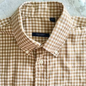 Burberry London Checkered Button-Down Men's Large